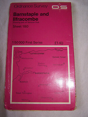 Ordnance Survey Landranger Map Sheet 180 Barnstaple And Ilfracombe