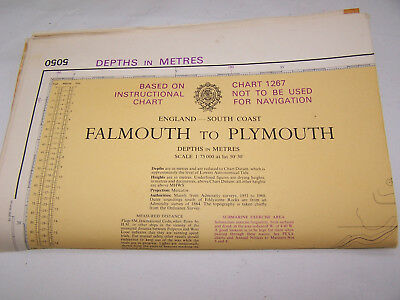 Nautical Map Falmouth T0 Plymouth 1:75.000  1974