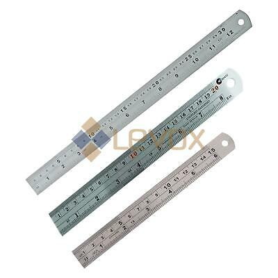 "6'' / 8"" / 12"" SCALE RULER SMALL/LARGE Measure Rule Metal Stainless Steel 30cm"