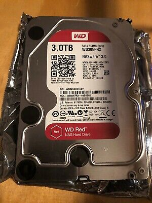 "Western Digital WD Red 3 TB Internal 5400 RPM 3.5"""" Hard Drive -WD30EFRX NAS..."