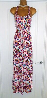 45f0dc42d155 New Look Gorgeous Floral Summer Holiday Beach Cruise Maxi Dress Size 14