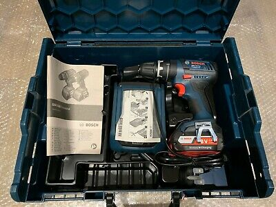 Bosch GSB 18 V-LI Wireless Combi Drill 2 x 2.0Ah L-Boxx New