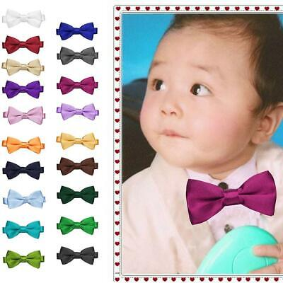New Kids Baby Cute Solid Adjustable Bow Ties Clothes Accessories WT88 02