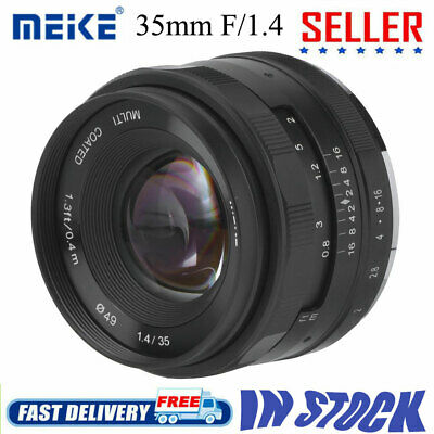 Meike 35mm F1.4 Mirrorless Camera Fixed Prime Focus Lens for Fujifilm X/Sony E M