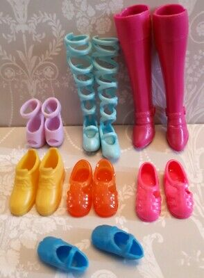 Barbie Mattel Sindy Doll Vintage Squishy Jellys Laceup Boots Shoes Accessories
