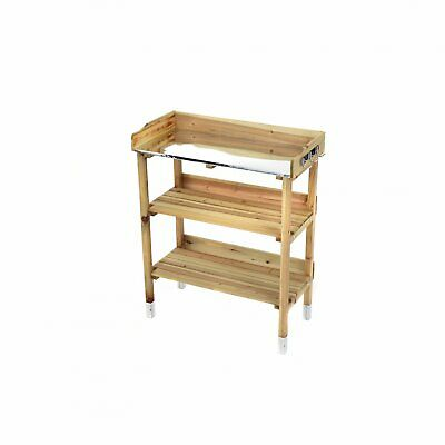 NEW! Wooden Potting Table Flower Plant Workbench Garden Greenhouse