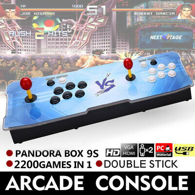 New Pandora Box 9S 2200 in 1 Retro Video Games Double Stick Arcade Console USA