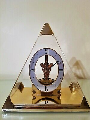 "Skeleton Clock under Pyramid Dome by ""London Clock Co"""