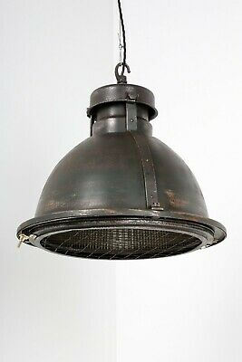 Salvaged Xl Industrial Holophane Pendant Ceiling Light