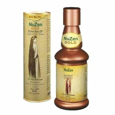 Nuzen Herbal Gold Hair Oil 100ml -growth of healthy, thicker and glossier hair