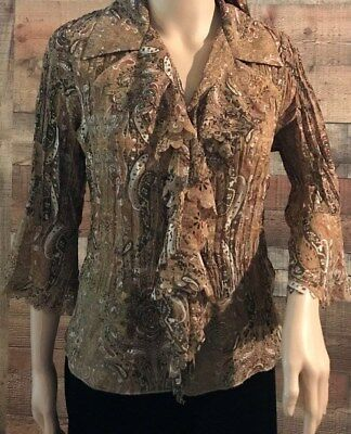 0fa05082771 DRESS BARN PLUS Size 1X Blouse Top Shirt Black Cream Floral V-Neck 3 ...