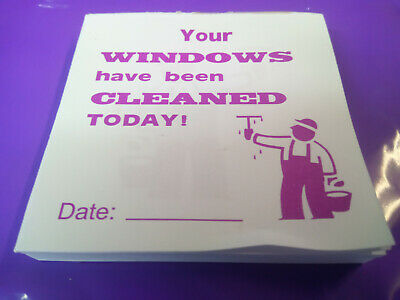 Window Cleaner PADS (x100) FLYER PADS, RECEIPTS - 2 / 4 / 8/16 pads x 100 slips