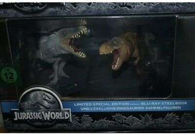Jurassic World Limited Special Steelbook Edition Dino Figuren Blu Ray Mit OVP