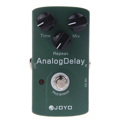 Joyo JF-33 True Bypass Analog Delay chitarra elettrica effetto pedale verde H2A3
