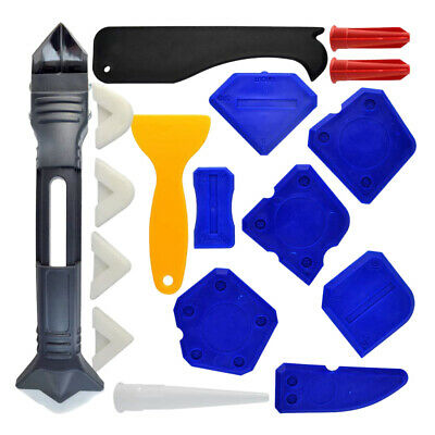 18Pcs Caulking Tool Kit 3 in 1 Caulking Tool Silicone Sealant Finishing Tool