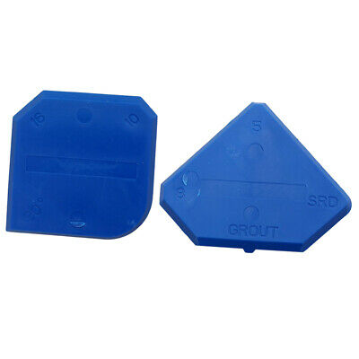 2Pcs Caulking Tool Kit Blue Joint Sealant Grout Remover Scraper