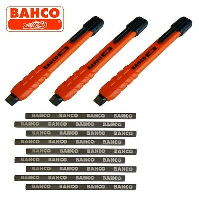 (PACK OF 3) Bahco Mechanical Carpenters Joiners Pencil with 9 Leads Refillable