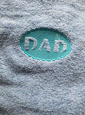 100% Egyptian Cotton embroidered bath size Towel embossed logo design ( Dad )