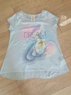Disney Store Cinderella Blue sequin top 7-8 with bow back BNWT RRP £20