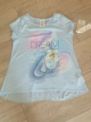 Disney Store Cinderella Blue sequin top 9-10 with bow back BNWT RRP £20
