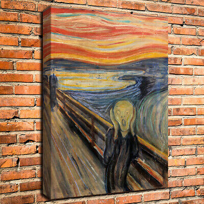 Edvard Munch The Scream Old Giclee Canvas Print Repro for Wall Decor Paintings