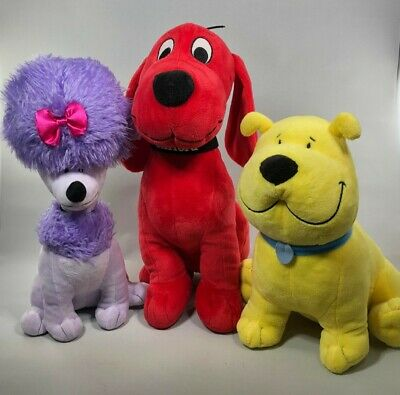 "10/"" Kohls Cares for Kids Clifford Big Red Dog T-Bone Soft Velour Stuffed Plush"