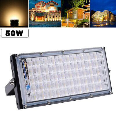 50W LED Flood Light Warm White Garden Landscape Spotlight Outdoor Spot Lamp