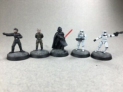 West End Games Painted Star Wars Metal Miniatures Imperial Characters x5