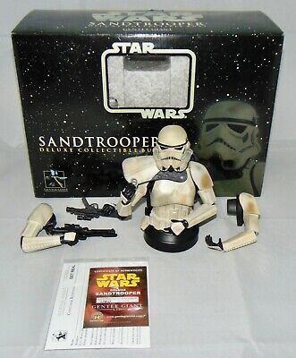 Gentle Giant Star Wars Sandtrooper Deluxe Collectible Bust Squad Leader With Box