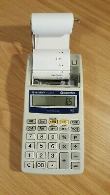 Sharp EL-1611E Euro conversion calculator, boxed, 5 rolls, working