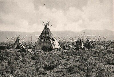 NEVADA Elko Shoshone Indian c1912 Beautiful Photogravure Print