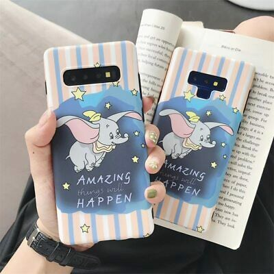 For Samsung Galaxy S8 S9 S10 Plus Note 8 9 Case Cute Elephant Cartoon Tpu Cover