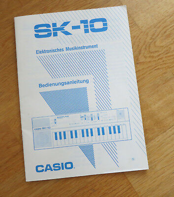 Casio SK-10 Sampling Keyboard Bedienungsanleitung