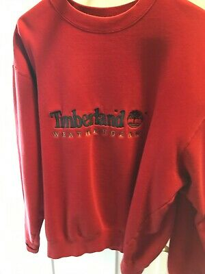 competitive price 5448c 22897 Vintage 90s Timberland Weathergear Embroidered Crew Neck Red Sweatshirt  Size XL
