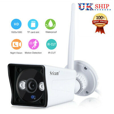 Sricam Wireless WIFI CCTV Security IP Camera HD 1080P TF IR-CUT Night Version UK
