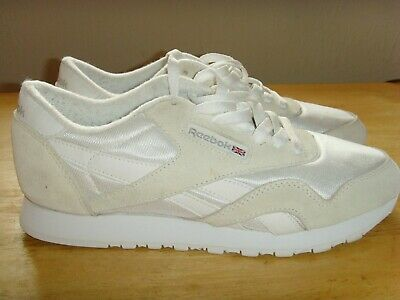 REEBOK CLASSIC TRAINERS Ladies 6 39 Leather White Pink EUR