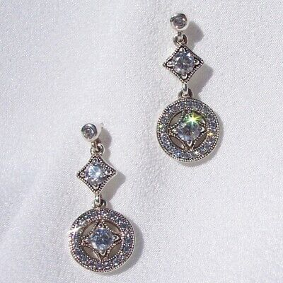 204538a75 Authentic Pandora Sterling Silver S925 ALE Vintage Allure Drop Earrings  290722CZ