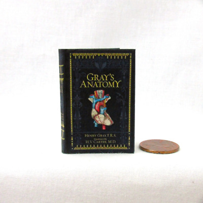 GRAY'S ANATOMY 1:6 Scale Book Readable Illustrated Miniature book Medical book
