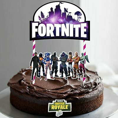 Fortnite Birthday Cake Topper 9 90 Picclick Au Plymouthicefestivalorg