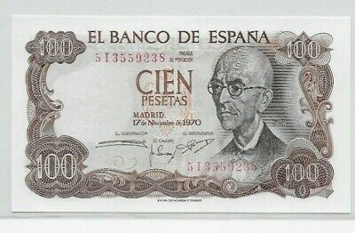 Spain 1970 100 Pesetas banknote (uncirculated)