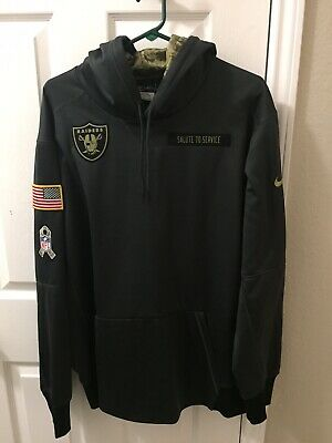 new arrival a46f4 30468 OAKLAND RAIDERS NFL 2018 Nike Salute To Service Hoodie ...