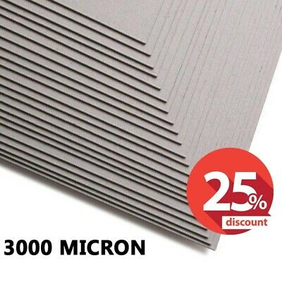 3000 Micron Greyboard, A2, SRA2, 3mm Card, Thick Mount Backing Board, SALE OFFER