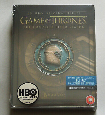 Game Of Thrones Season 6 - Uk Blu-Ray Steelbook Edition With Magnet * New Sixth