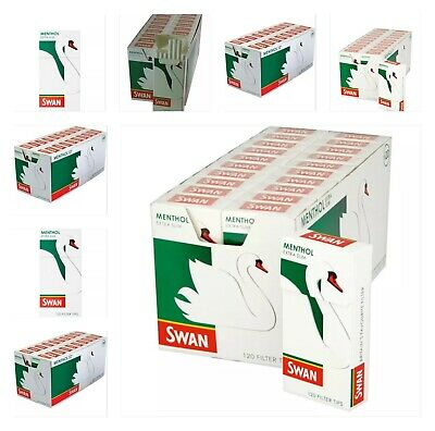 1 5 10 20 Swan Menthol Extra Slim Pre Cut Filter Tips Smoking Cigarette Rolling