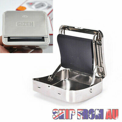 Automatic Cigarette Tobacco Roller Roll Rolling Machine Metal Box Case Maker Tin