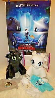 Build A Bear TOOTHLESS How To Train Your Dragon 3 w//sound//t-shirt ALL NWT!