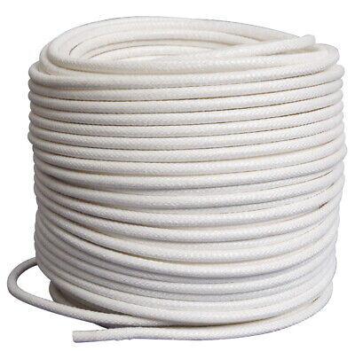 Pepperell Braiding Coiling Cord, 1/4 Inch x 180 Foot Roll, White