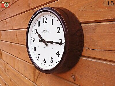 Vintage Early Smiths English Clocks Wall Clock, Bakelite. Updated & Restored!