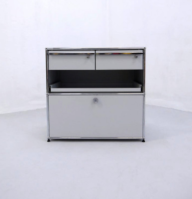 Metal Cabinet, Fritz Haller for USM Haller, Designed in 60s Swiss Design Classic