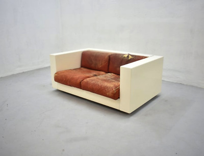 Saratoga Sofa 2-seater Designed by Lella and Massimo Vignelli for Poltronova 60s